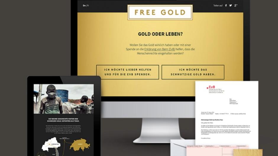 Freundliche Grüsse: Gold und Bronze für «Free Gold»-Kampagne