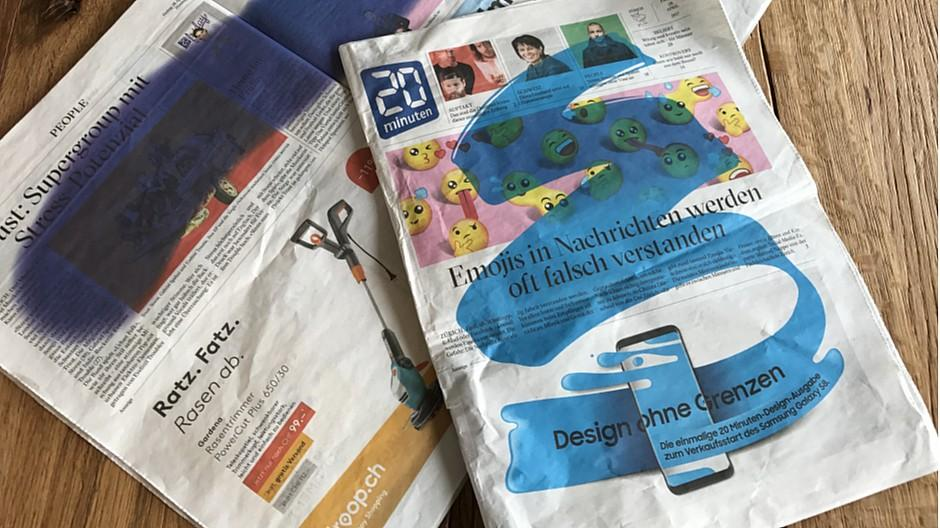 Tamedia: Wenig Freude an Design-Ausgabe von «20 Minuten»