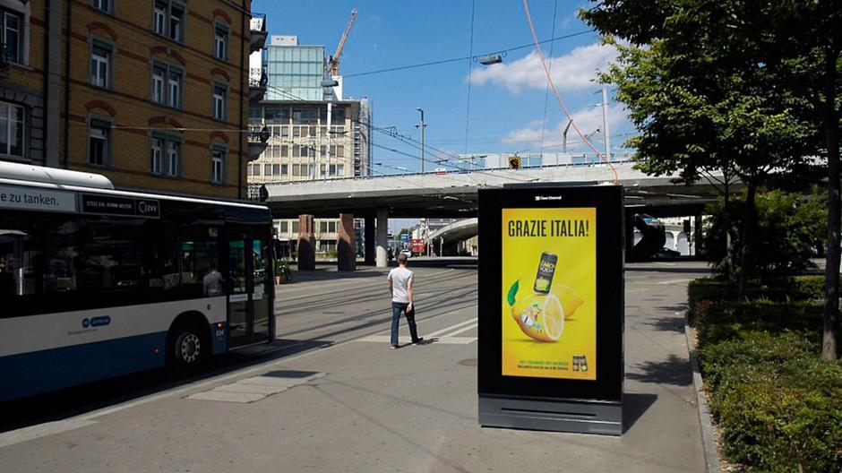 Aussenwerbung: 25 neue digitale Werbeanlagen in Zürich