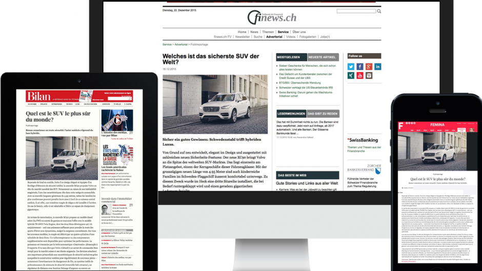 Native Advertising: 65 Sekunden Lesedauer für Volvo
