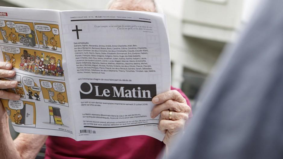 Ende von Le Matin: Abschied mit 64 Seiten und Todesanzeigen