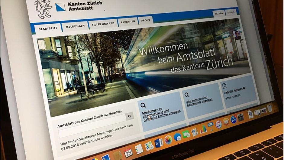 Zürich: Amtsblatt erscheint definitiv nur noch digital
