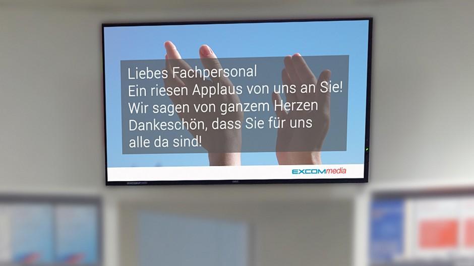 Excom Media: Applaus auf Apotheken-Screens
