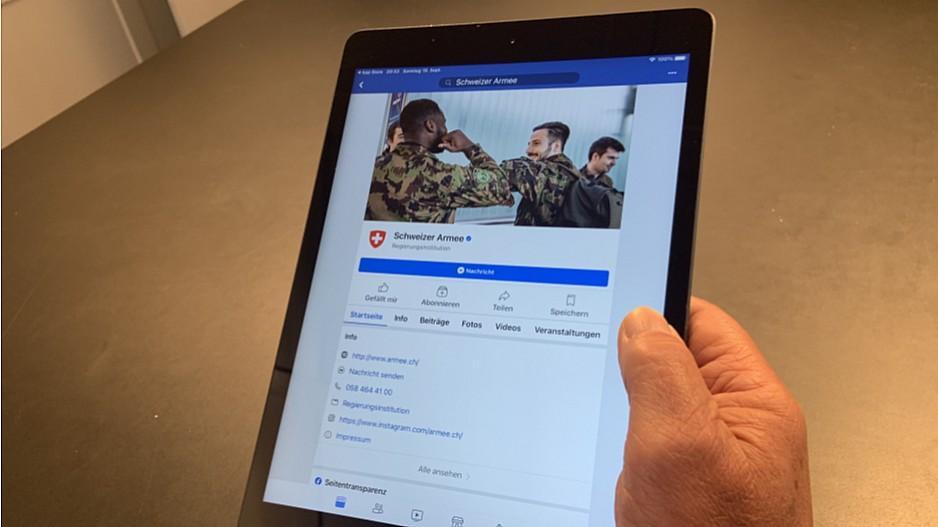 Verteidigungsdepartement: Armee betreibt knapp 250 Social-Media-Kanäle