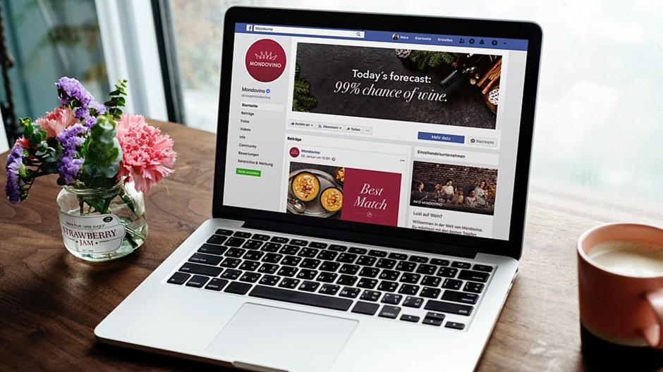 Freundliche Grüsse: Auf Facebook entkorkt und eingeschenkt