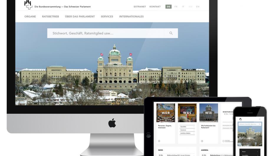 Namics: Website-Relaunch für das Parlament