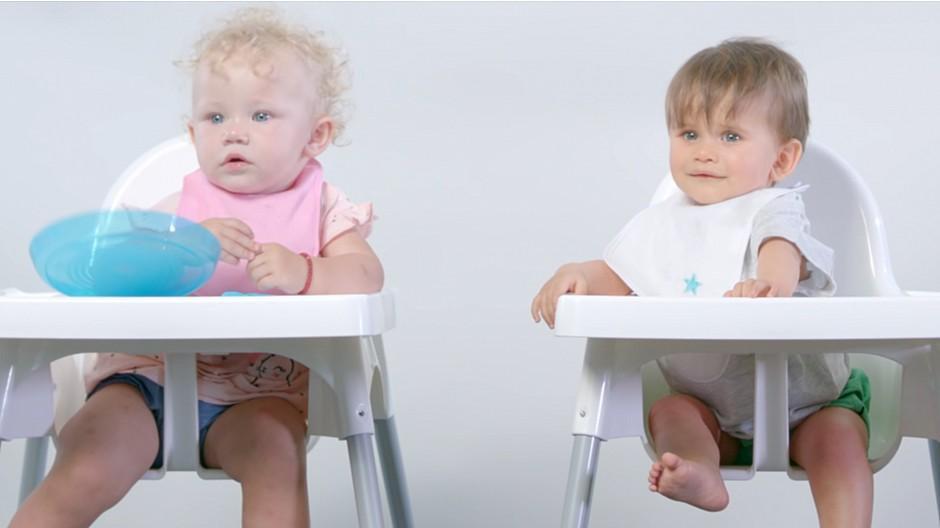 Mind Studios: Babys beurteilen die Quetschbeutel von Hero