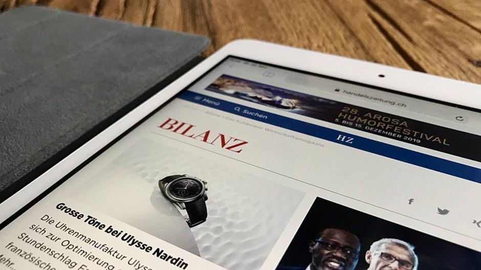 Ringier Axel Springer Schweiz: «Bilanz»-Artikel werden kostenpflichtig