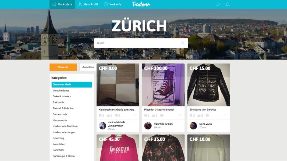 Tamedia: Mobile-Flohmarkt Tradono startet in der Schweiz