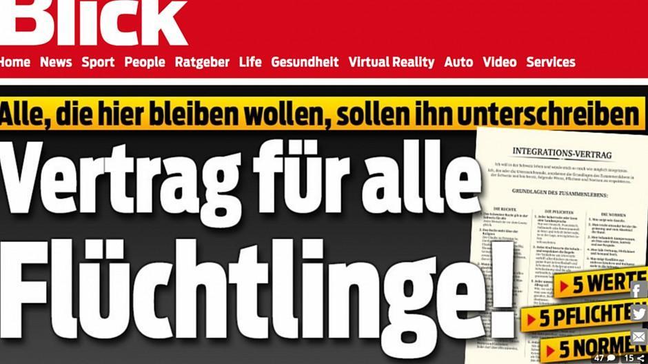 Ringier: «Blick» fordert Vertrag für Flüchtlinge