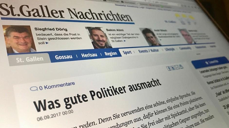 St. Galler Nachrichten: Blocher-Blatt klaut bei Tagi Uralt-Artikel