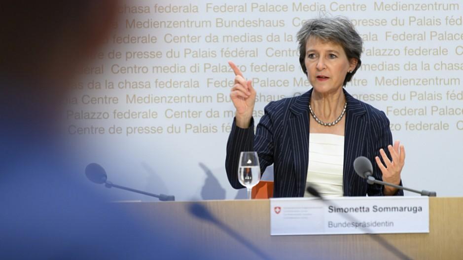 RTS: Bundespräsidentin Sommaruga schaltet sich ein