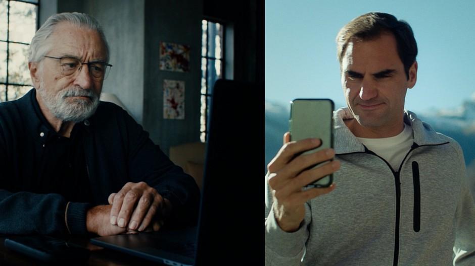 Wirz/BBDO: Robert De Niro gibt Roger Federer einen Korb