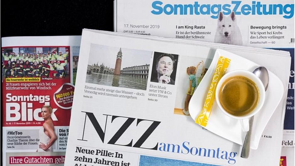 Sonntagszeitungen: Weniger Printauflage, mehr Digitalabos