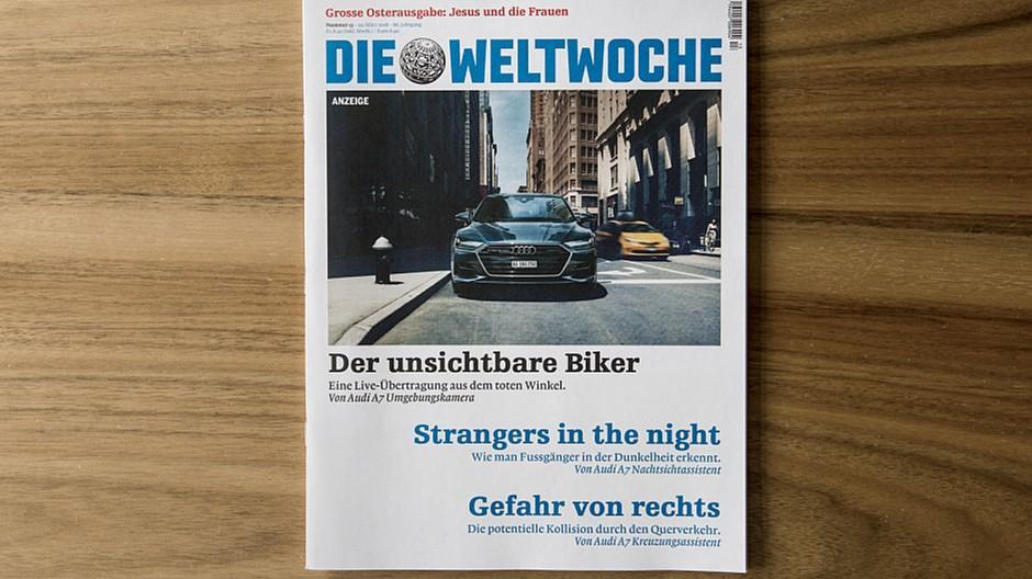 Y&R Group Switzerland: Ein Auto schreibt «Weltwoche»-Headlines
