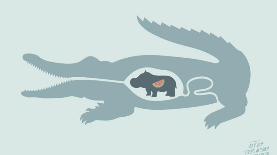 Ruf Lanz: Ein Krokodil und eine Wassermelone