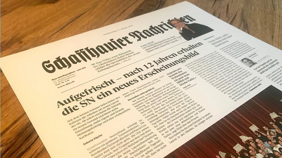 Schaffhauser Nachrichten: Ein neues Kleid und mehr Debatte