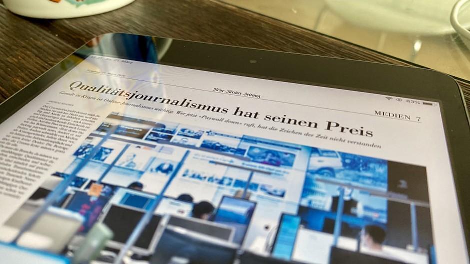 Neue Zürcher Zeitung: Ein Plädoyer für Qualitätsjournalismus