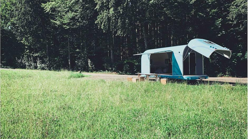 Office Caravan: Engadin lockt Kreative mit Büro in der Natur