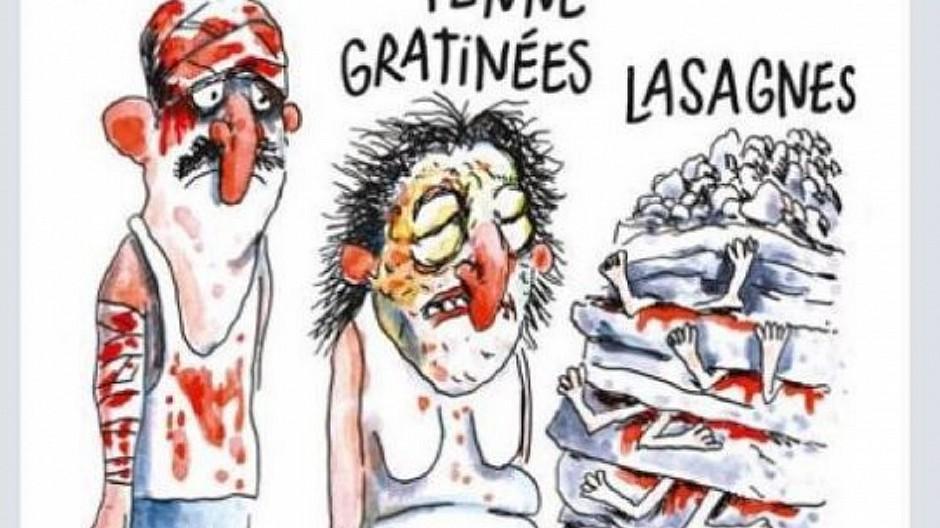 Charlie Hebdo: Erdbeben-Karikatur sorgt für Empörung