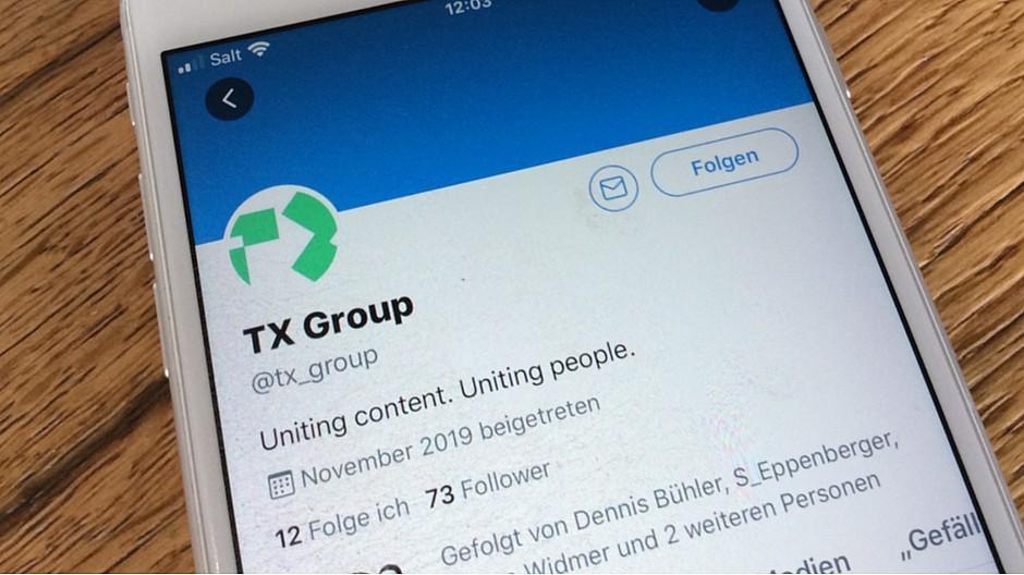 Medien auf Social Media: Fake-Account von TX Group auf Twitter