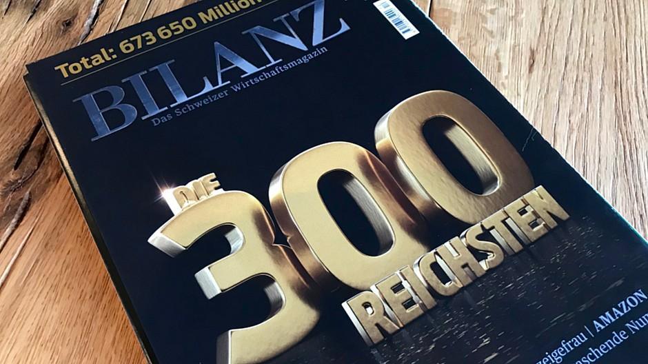 300 reichste Schweizer wurden 60 Milliarden Franken reicher