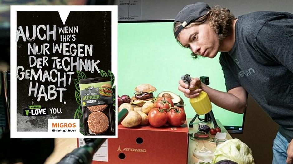 Digitec Galaxus: Feuer und Flamme für veganen Burger