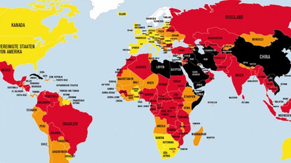 Pressefreiheit-Ranking: Schweiz bleibt in der Spitzengruppe