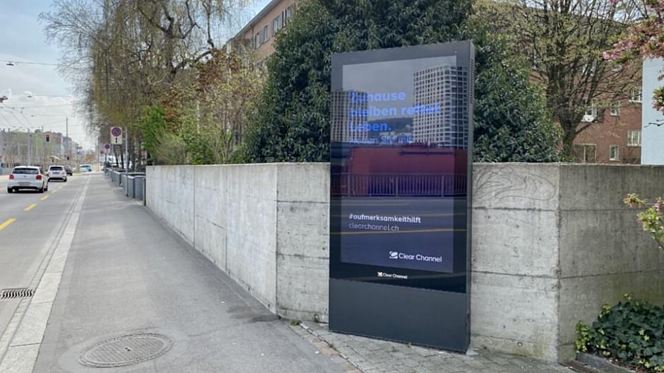 Clear Channel: Freier Platz kommt Dankeschön-Sujets zu