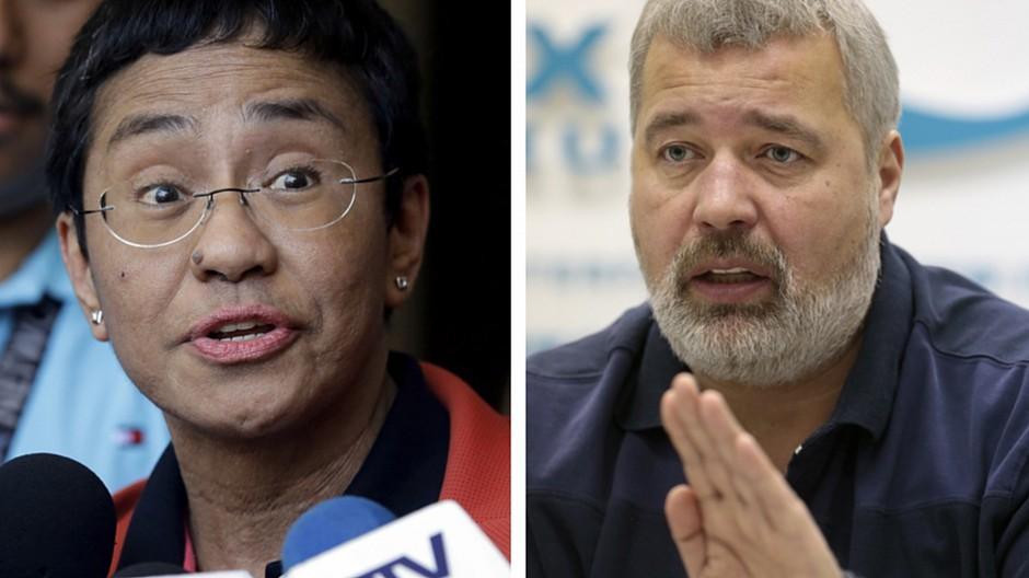 Oslo: Friedensnobelpreis für Journalisten
