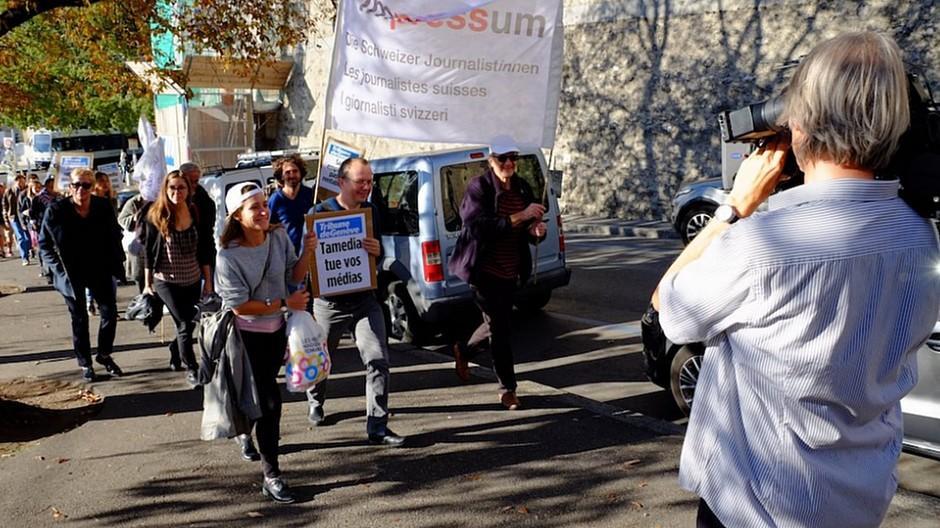 Tamedia: Genfer Journalisten gehen auf die Strasse