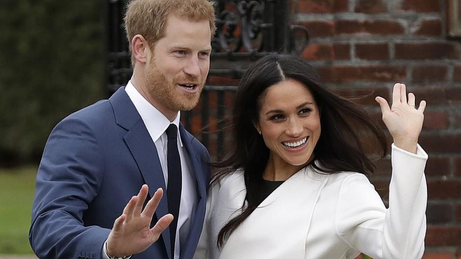Britische Royals: Harry und Meghan posieren für die Medien
