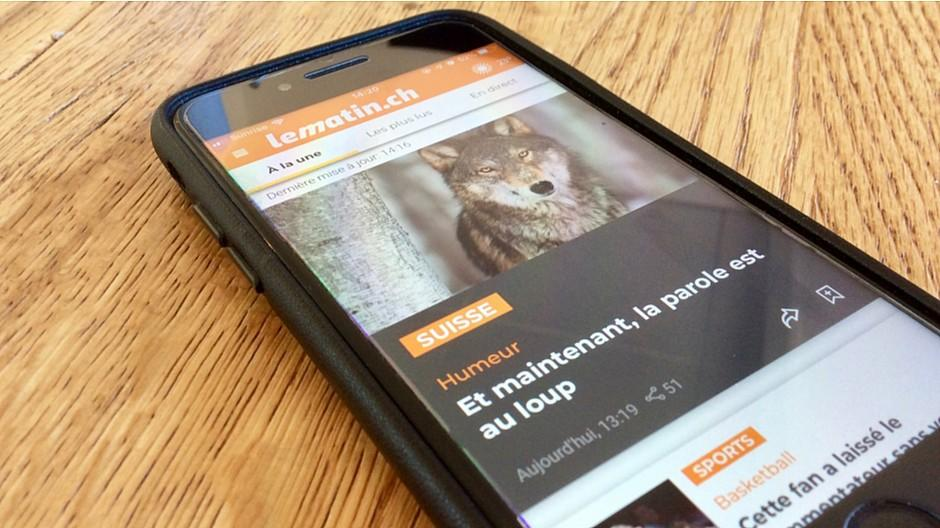 Tamedia: «Le Matin» mit neuer App und frischem Logo