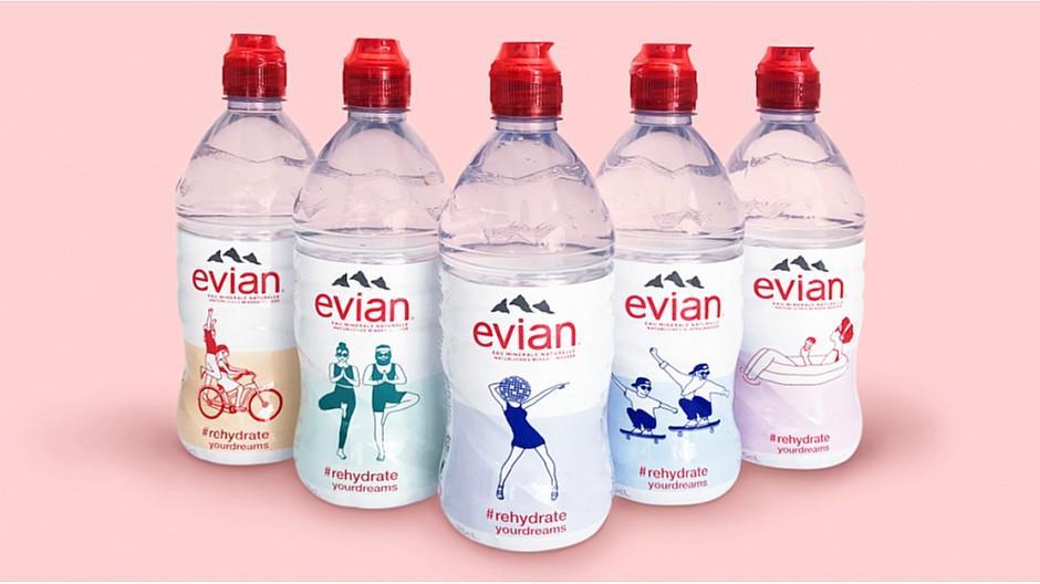 Inhalt und Form: Limited Edition für Evian