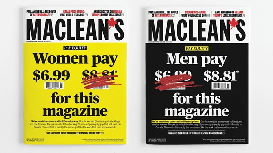 Gender-Debatte: «Maclean's» verlangt von Männern mehr Geld