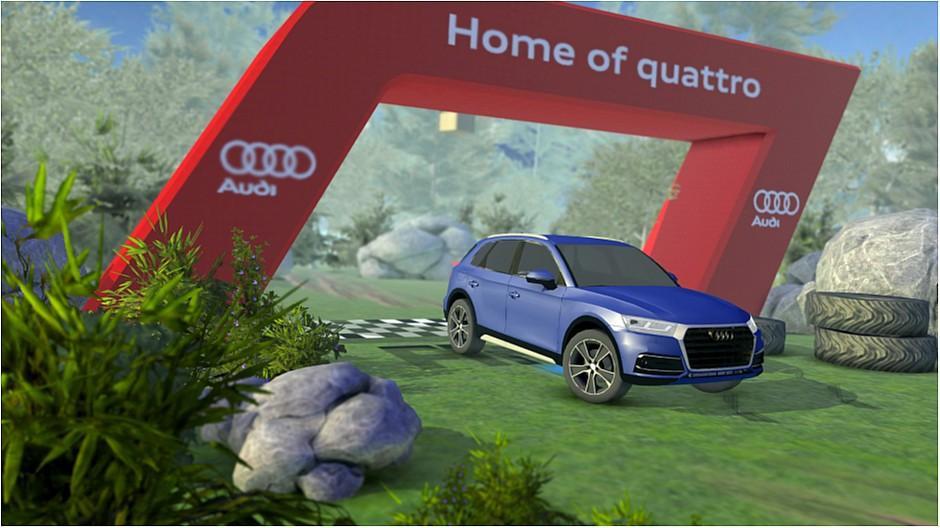 Y&R Group: Virtuell mit dem Audi über die Wiese rasen