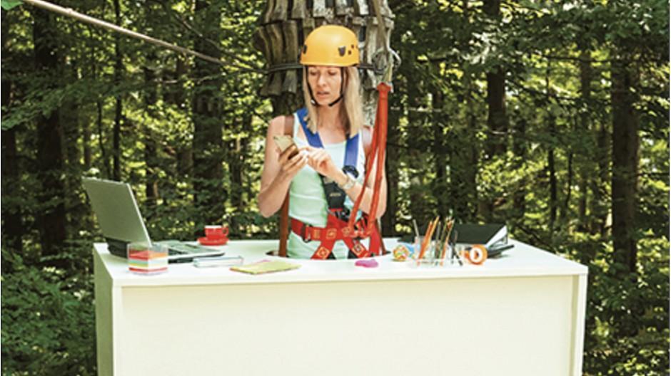 tbd.: Mit dem Schreibtisch in den Wald