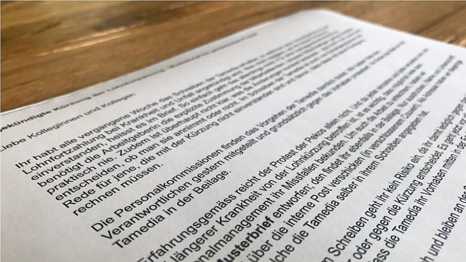 Tamedia: Mitarbeiter akzeptieren die Vertragsänderung - Medien