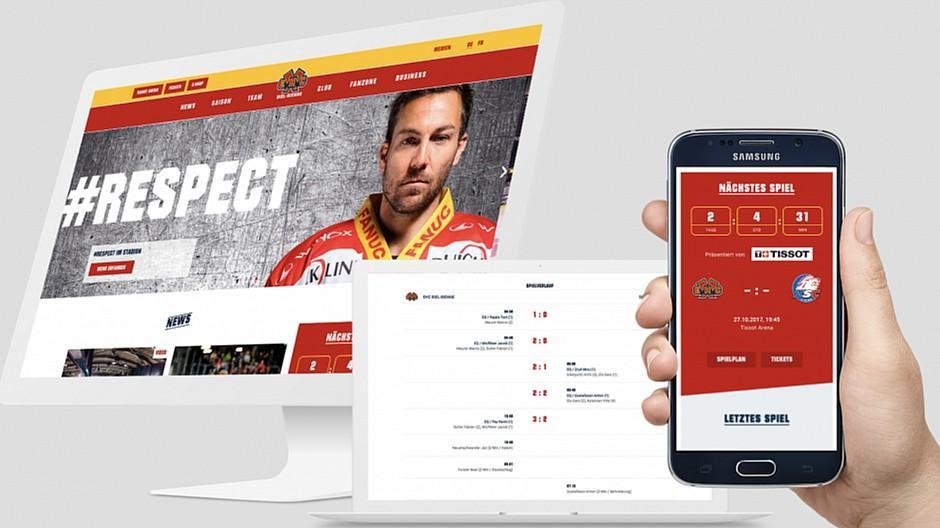 Campfire / Kargo Kommunikation: Neue Webseite für den EHC Biel