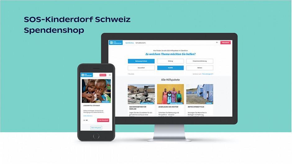 Digitally: Neuer eShop für SOS-Kinderdorf realisiert