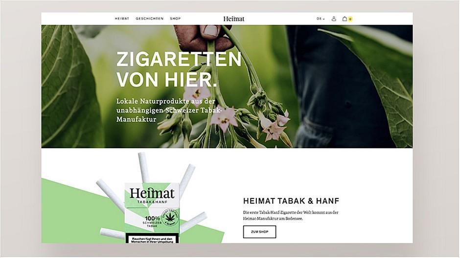 Gridonic: Neuer Webauftritt für die Zigaretten-Manufaktur Heimat