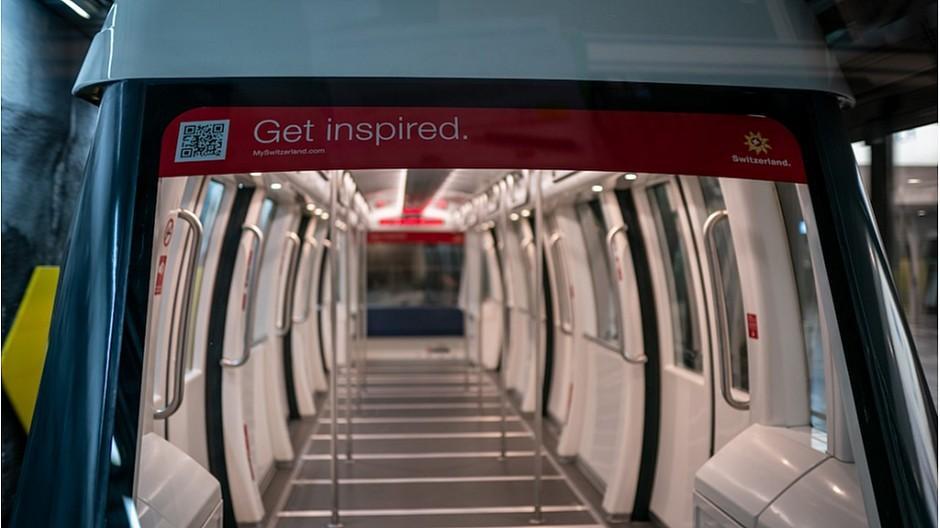 Flughafen Zürich: Neues Tunnelkino in der Skymetro
