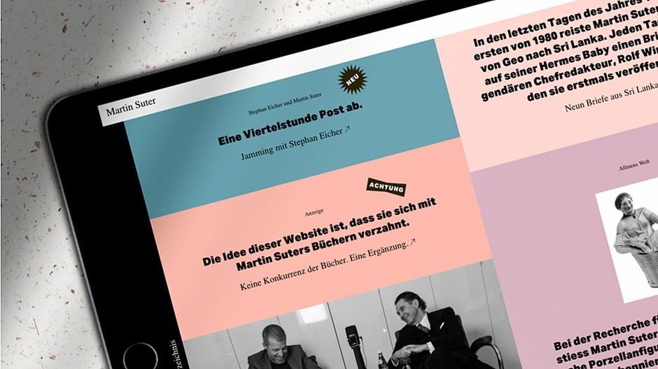 BKVK: Neues Webdesign für Martin Suter