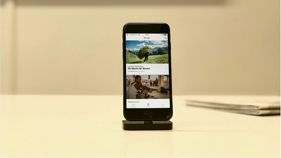 Digital News Initiative: NZZ testet personalisierte Nachrichten-App