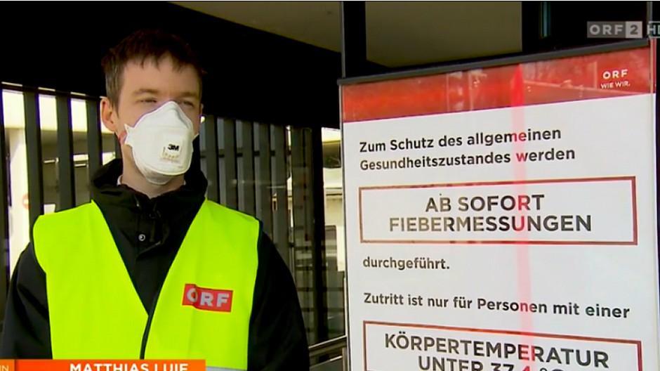 Coronavirus: ORF-Journalisten ziehen in isolierte Areale
