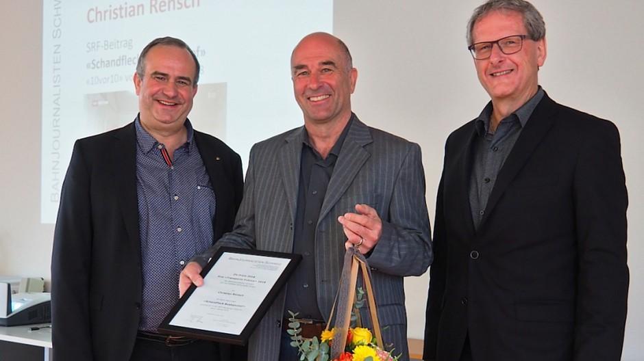 Bahnjournalisten Schweiz: ÖV-Preis geht an Christian Rensch