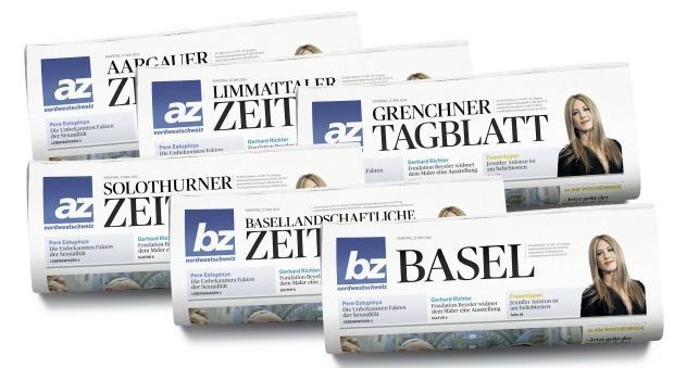 """AZ Medien: Neues Layout für die """"az Nordwestschweiz"""""""
