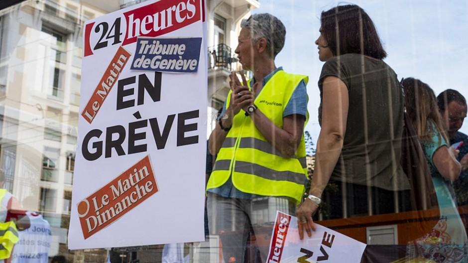 Streik bei Tamedia Romandie: Parteien einigen sich auf Mediation