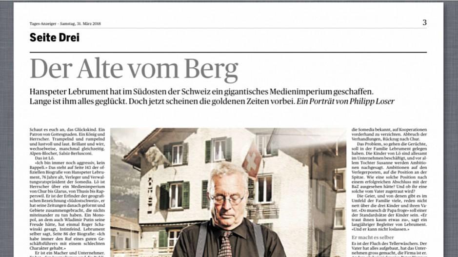 Tamedia: «Tages-Anzeiger» löscht Lebrument-Porträt