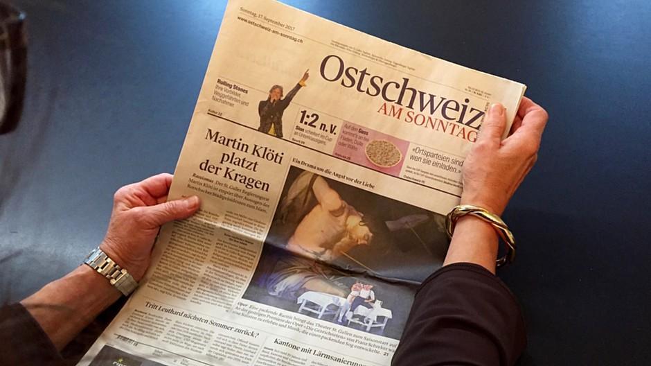 NZZ Regionalmedien: Printausgabe der «Ostschweiz am Sonntag» wird eingestellt